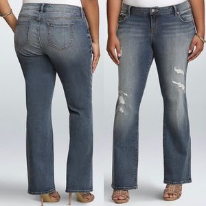 Torrid | Lightly Distressed Relaxed Boot Cut Jeans